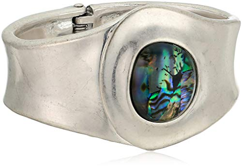 Robert Lee Morris Center Point Women's Abalone Statement Cuff Bracelet, One Size