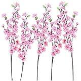 ROSENICE Mazzi di fiori di pesco Artificiali Fiori Di Seta per l'ufficio Casa matrimonio feste decorazione - 10 pezzi