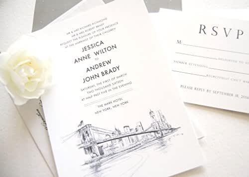 Baltimore Maryland City Skyline 5-Piece Wedding Invitation Package