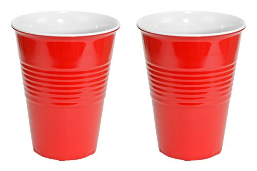 Fairly Odd Novelties 20oz Red Cup Made Out Of Melamine 2 Pack Living It Large Drink Solo or With A Friend