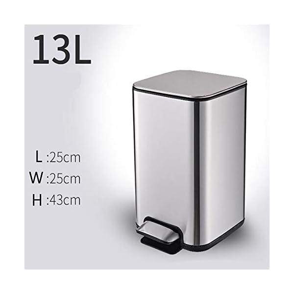 13L-Compattatore-Di-Rifiuti-Acciaio-Acciaio-Inossidabile-Cucina-Soggiorno