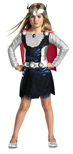 UHC Thor Girl Marvel Movie Comics Fancy Dress Toddler Kids Halloween Costume, 3T-4T (Thor Girl Halloween Costume)