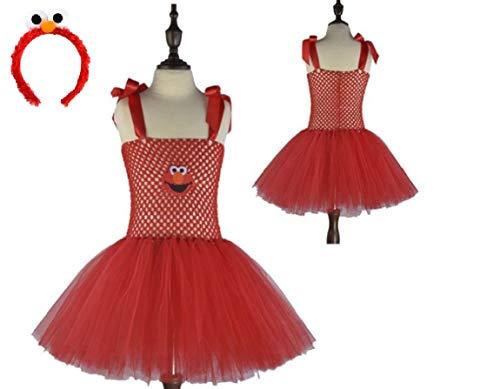 Red Sesame Monster Tutu Dress from Chunks of Charm (7) ()