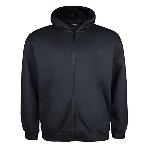 Lucky Star Sweatjacke schwarz mit Kapuze und Taschen Übergröße Schwarz SoadM