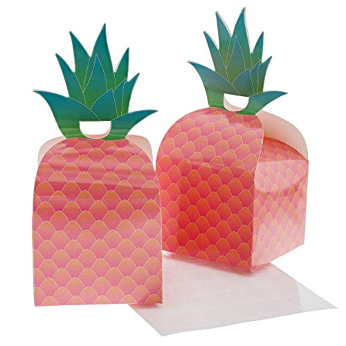 Juvale 24-Pack Tropical Pineapple Party Favor Treat Gift Boxes, 3.5 x 3 Inches