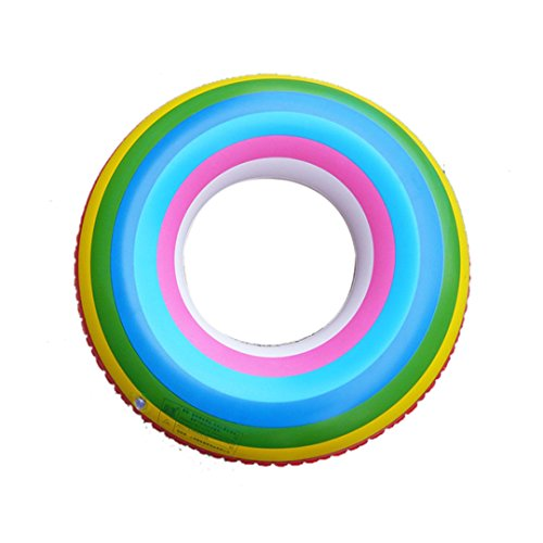 YOUYONGAUA Adult Rainbow Inflatable Swimming Float Tube Ring Raft Pool Float Swim Ring For Women And Summer Water Fun Pool And Sea Toys (Female Inflation Suit)