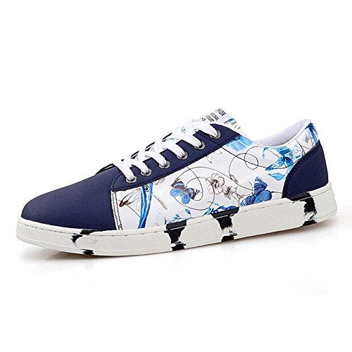 Impreso en verano y otoño los amantes zapatos/Zapatillas casuales/Zapatos de moda hombre Azul