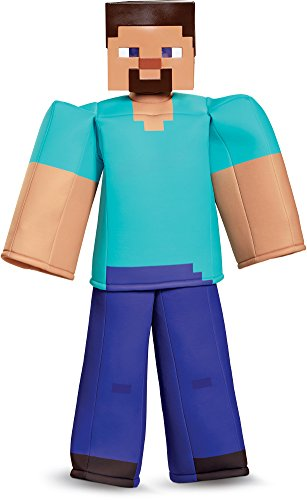 Steve Prestige Minecraft Costume, Multicolor, Medium (7-8)