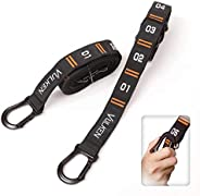 Vulken Adjustable Numbered Straps for Gymnastic Rings Steel Carabiners Quick Hook System Easy to Set Up One Pa