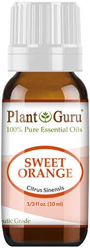 Sweet Orange Essential Oil 10 ml 100% Pure Undiluted Therapeutic Grade Citrus Sinensis, Cold Pressed from Fresh Orange Peel, Great for Aromatherapy Diffuser, Relaxation and Calming, Natural Cleaner.
