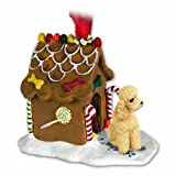 Poodle Apricot Gingerbread House Christmas Ornament New