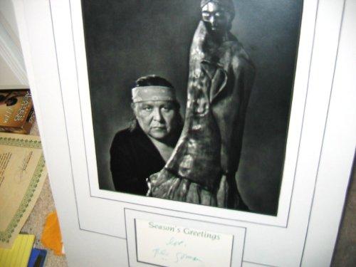 * RC GORMAN * signed Xmas card display Taos, NM artist / UACC Registered Dealer # 212