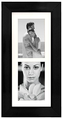 Malden International Designs Manhattan Matted Wall Picture Frame, 2 Option, 2-5x7, Black (Frames Photo 3x5)