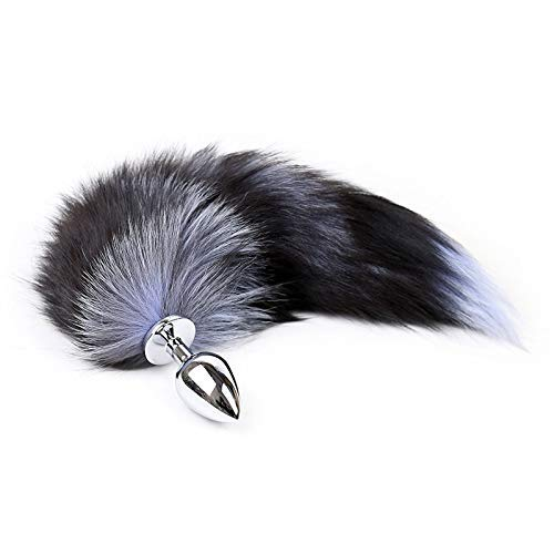 Soft Fox Tail with Plug, Women Men Cosplay Costume Accessories for Novelty Party Supplies -