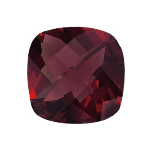 Mysticdrop 8.18-8.95 Cts of 12x12 mm AAA Cushion Checker Board Mozambique Garnet (1 pc) Loose Gemstone by Mysticdrop (Image #2)