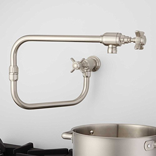 Naiture Wall-Mount Retractable Pot Filler in Brushed Nickel Finish -  Naiture Home Store, FT932383BN