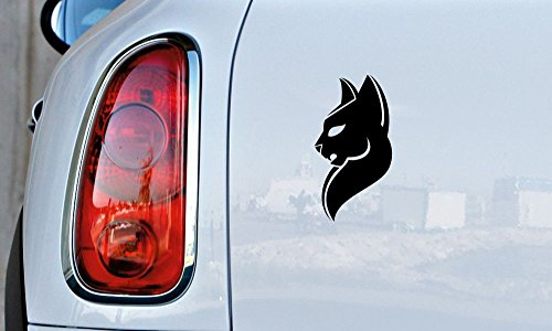 Cat Panther Head Version 2 Car Vinyl Sticker Decal Bumper Sticker for Auto Cars Trucks Windshield Custom Walls Windows Ipad Macbook Laptop and More -