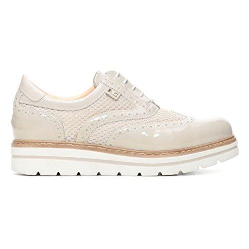 Nero Giardini - Zapatos de cordones para mujer Beige