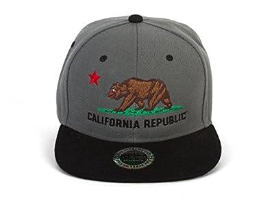 City California Republic Grey/Black Adjustable Snapback