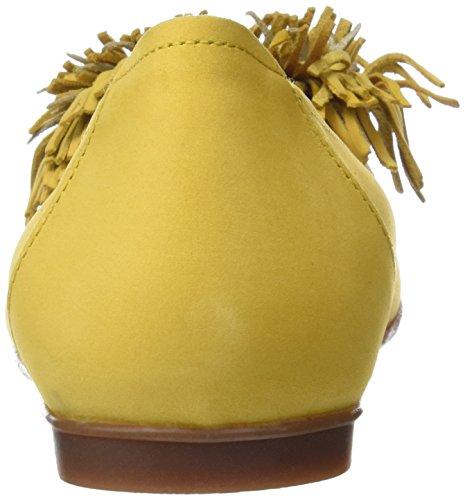 yellow Punta Con Bailarinas Versalles Sabrinas Mujer Amarillo Cerrada Para 6qvz8WW7w1