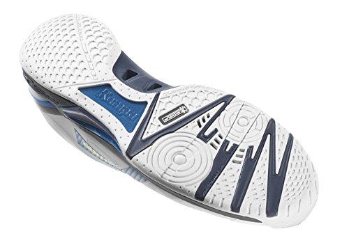 Kempa Wing Lite Zapatillas de Balonmano, Hombre, Blanco / Azul (Fair / Mar), 13