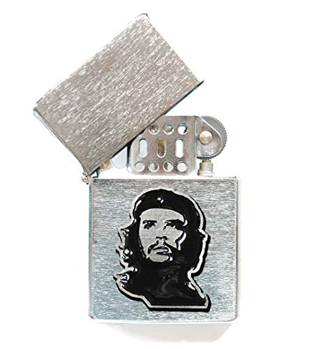 (Che Guevara Store Lighter Silver Metal Embossed Black Che)
