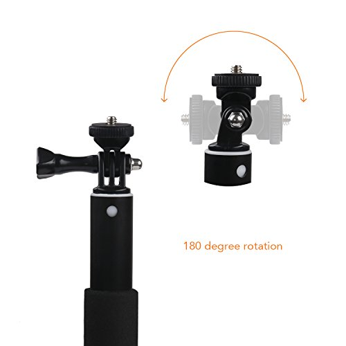 Apeman Selfie Stick Self-portrait Extendable Aluminum Monopod Holder Perfectly Compatiable with action cameras, smartphones, waterproof cases by APEMAN (Image #2)