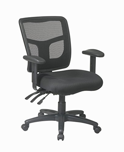 - Office Star High Back ProGrid Back FreeFlex Seat with Adjustable Arms and Dual Function, Black Managers Chair