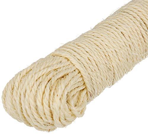 Lantelme Sisalseil 30 bis 150 Meter Naturprodukt Sisal für Katzen Kratzbaum Seil zur Reparatur der Säulen…