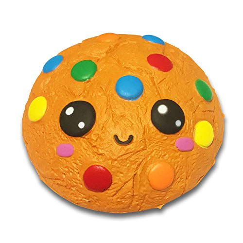Serenilite Slow Rising Scented Squishy Toy - Perfect Cute Squishies Squeezing & Stress Relief - 1 Piece (Rainbow Chip Cookie)
