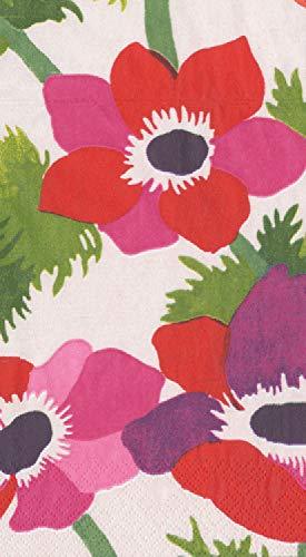 Caspari 3-Ply Paper Poiret Floral, Guest Towel Napkins, Ivory Pack of 30 ()