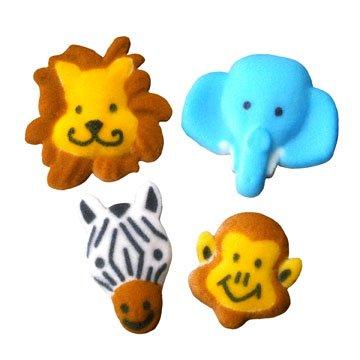 Lucks Dec-Ons Jungle Animals Assortment, 8-Pack