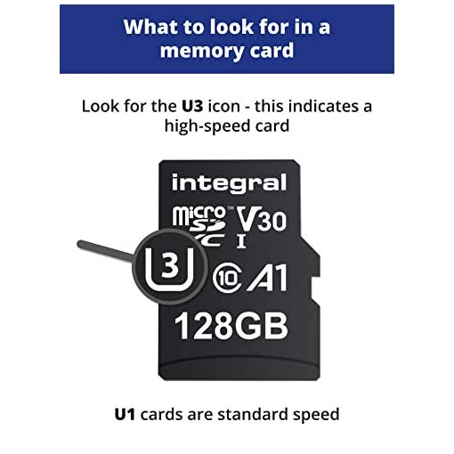 Integral 128GB Micro SD Card 4K Video Premium High Speed Memory Card SDXC Up to 100MB s Read Speed and 50MB s Write…