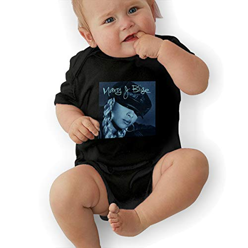 Mary J Blige Small Child Unisex Baby Short Sleeve 0-24 Months Black 2T