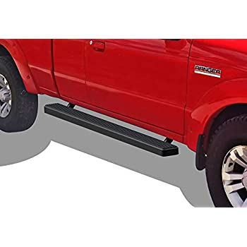 Running Board Side Step 4in Silver Fit Ford Ranger//Mazda B Super Cab 2Dr 98-11
