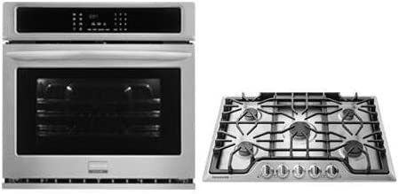 2-Piece Kitchen Package with FGEW3065PF 30 Electric Single Wall Oven and FGGC3047QS 30 Gas Cooktop in Stainless Steel 419s22JV6bL