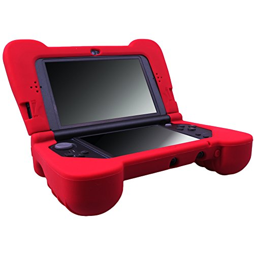 MXRC Silicone Rubber Cover Skin Case Anti-Slip Hand Grip Customize for Nintendo [NEW 3DS XL] x 1 Red, Not for Old 3DS XL (New 3ds Grip)