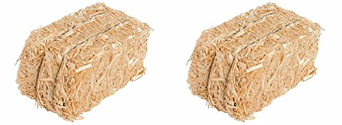 Straw Bale for Indoor or Outdoor Home Decor, 13 in, Set of 2 -