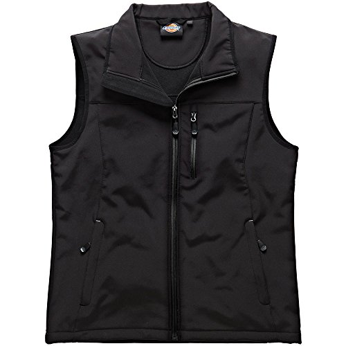 Dickies Black Softshell Kenton Workwear Gilet Bw7001b Mens HBrHwqxf