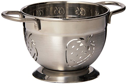 Supreme Housewares Stainless Steel Colander, Mini, Strawberry (Colander Stainless Supreme Steel)