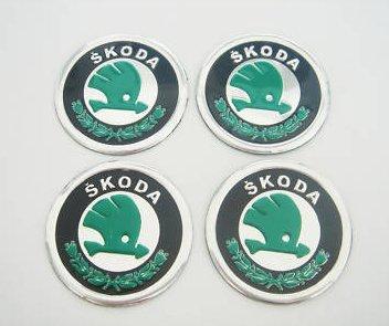 4 X 60mm Skoda Wheel Emblem Skoda Aufkleber Emblem