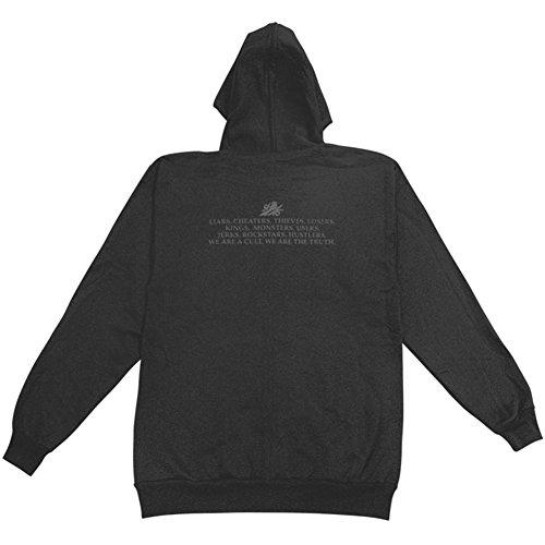 Bayside Men's Zippered Hooded Sweatshirt Large Black