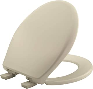 product image for MAYFAIR 887SLOW 006 Affinity Slow Close Removable Plastic Toilet Seat that will Never Loosen, Providing the Perfect Fit, ROUND, Long Lasting Solid Plastic, Bone