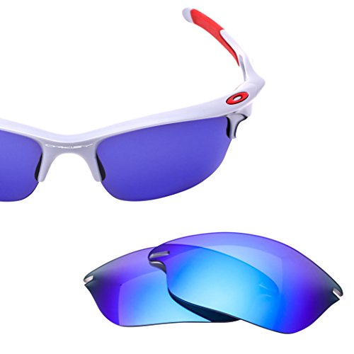 LenzFlip Lens Replacement for Oakley FAST JACKET - Gray Polarized with Blue Mirror - Replace Oakley Lenses