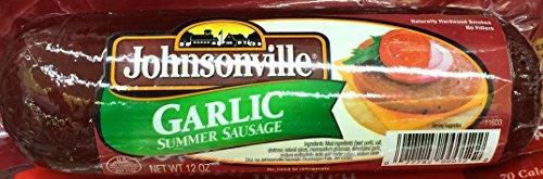 12oz Johnsonville Garlic Summer Sausage, Pack of 1