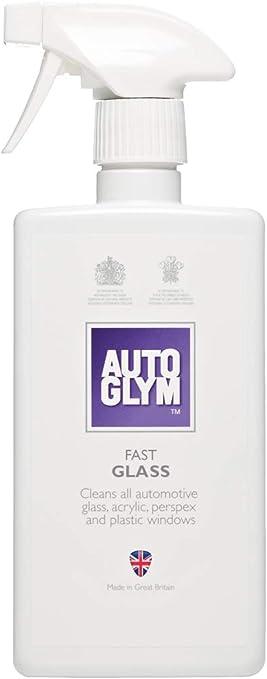 Autoglym Fast Glass Reinigungsspray Für Glas Spiegel Scheinwerfer Und Kunststoffkomponenten Innen Und Außen Anwendung 500ml Auto