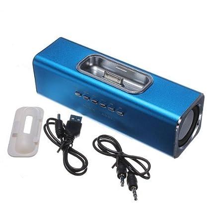 Amazon.com: Mini tamaño 5 5 5 cm tarjeta TF Altavoz MP3 ...