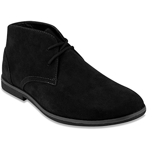 London Fog Mens Broadstreet Chukka Boot Black Microsuede for sale  Delivered anywhere in USA