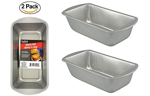 2 Loaf Bread Pan. Stainless Steel Kitchen Oven Banking Pan. Dish Washer Safe by Collective Bargain