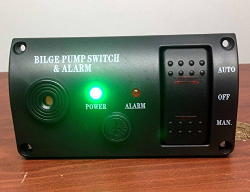 Pactrade Marine Boat Bilge Alarm And Pump Switch ABS Manual Automatic Off Spring Return
